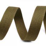 olijf groen keperband